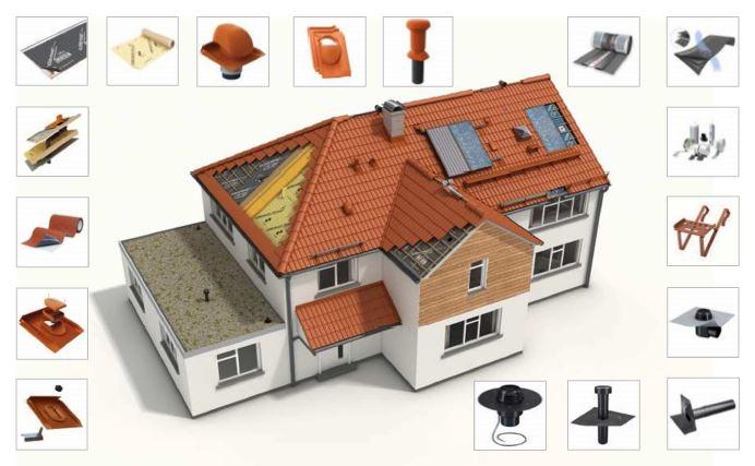Klöberi poolt pakutavad tarvikud katuse paigaldamiseks